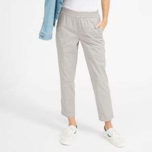 Everlane kaki elastic waist pants